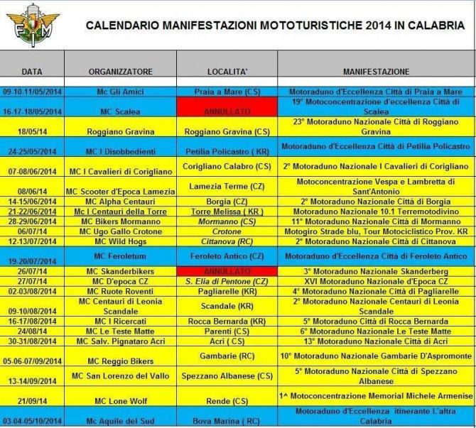 2014 calendario_turismo calabria
